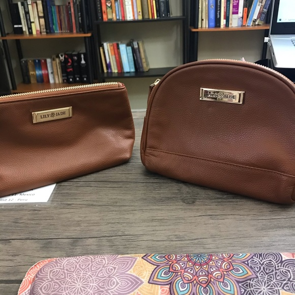 Handbags - Lily Jade accessory bags pouches- in camel small
